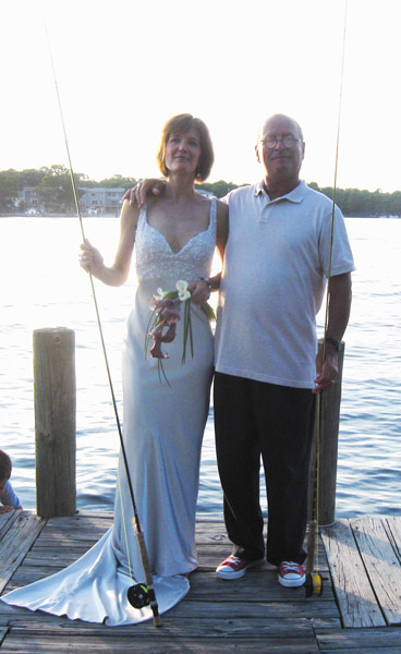 Le mouching, fly fishing, bride