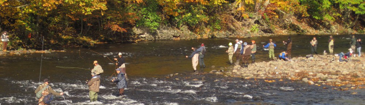 Le Mouching, fly fishing, salmon river