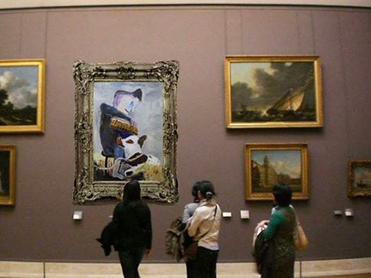 Le mouching, fly fishing, Le Louvre