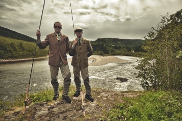 Anton Hamacher and I having fun on the Gaula just  a few weeks ago fishing the waters of the Norwegian Flyfisher's Club